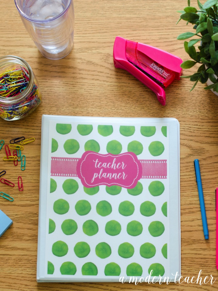 A Modern Teacher Flamingo Planner