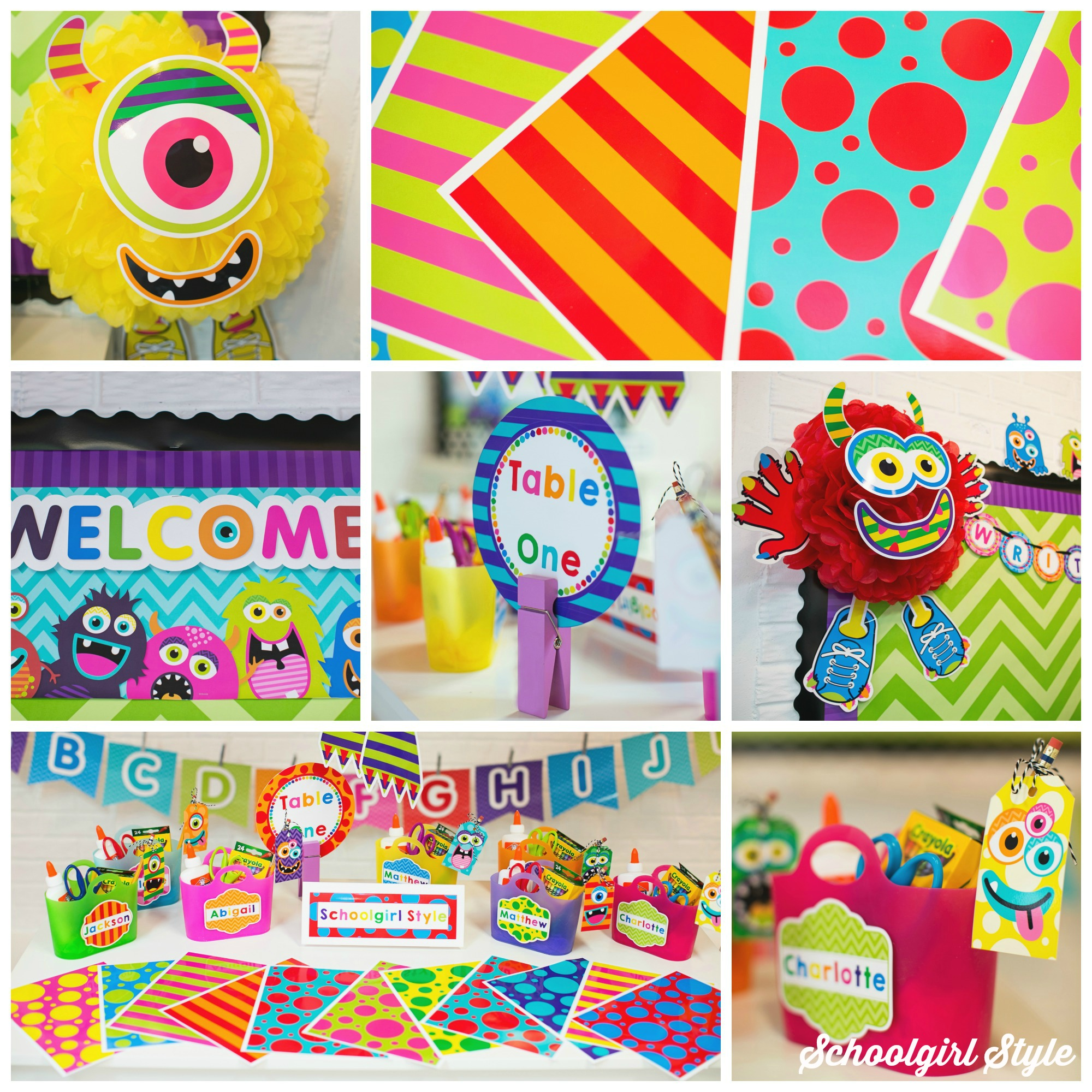 Monster Classroom Decor : Monster collage for schoolgirl style schoolgirlstyle