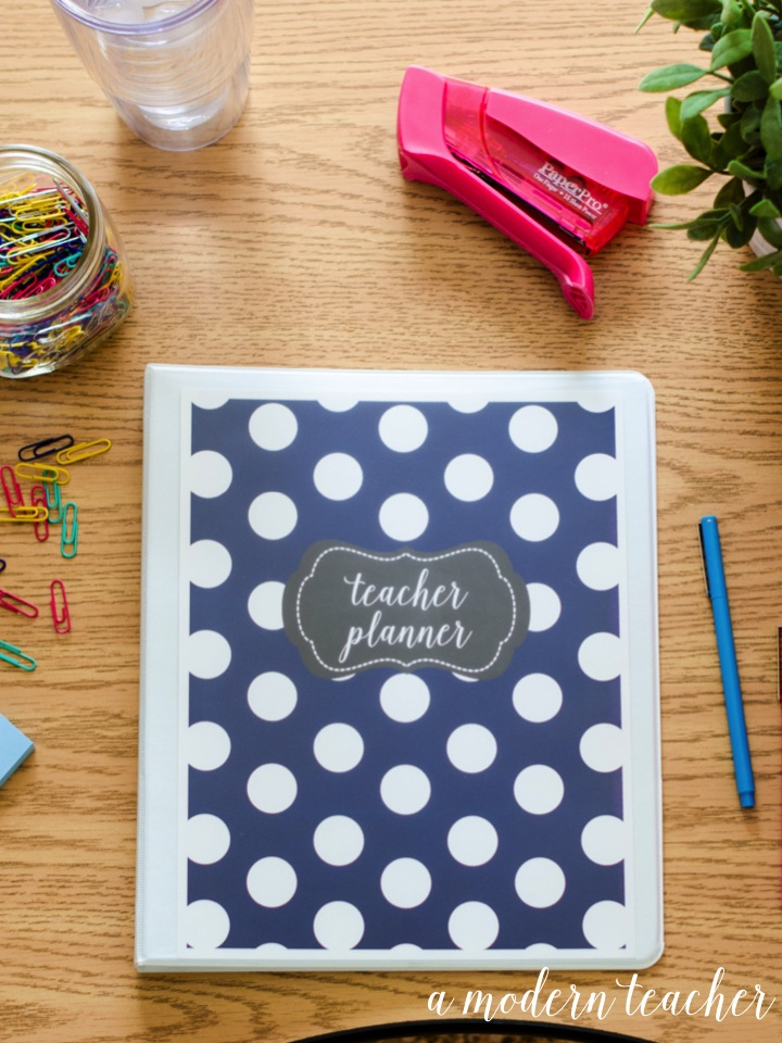 a modern teacher planner navy