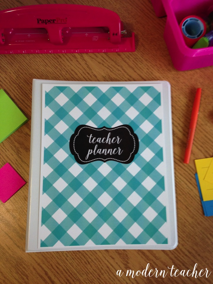 a modern teacher planner sunshine