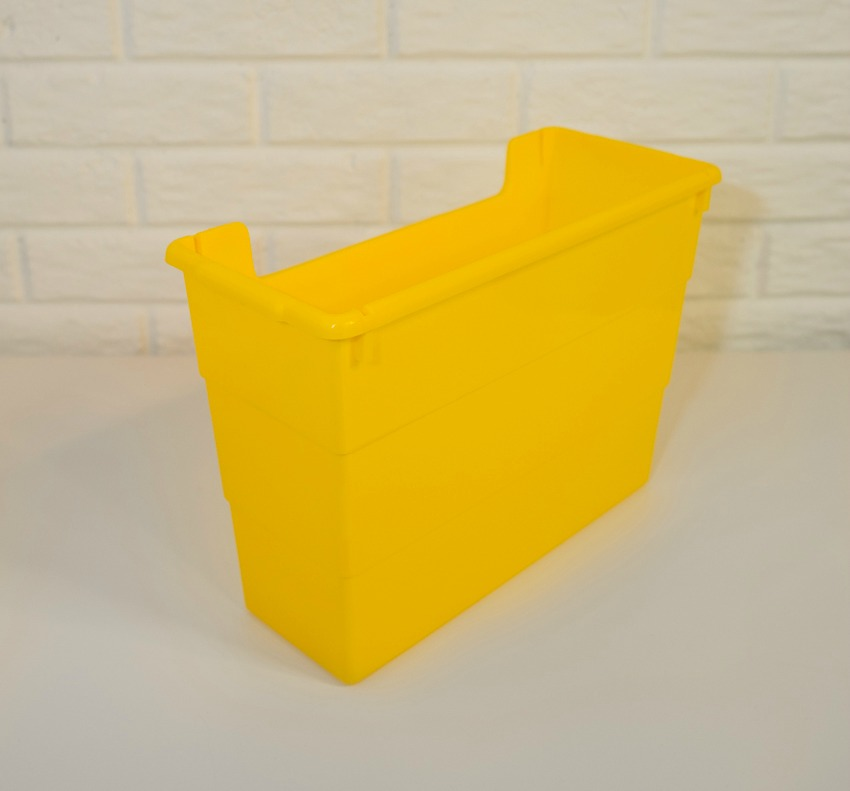 yellow file folder box
