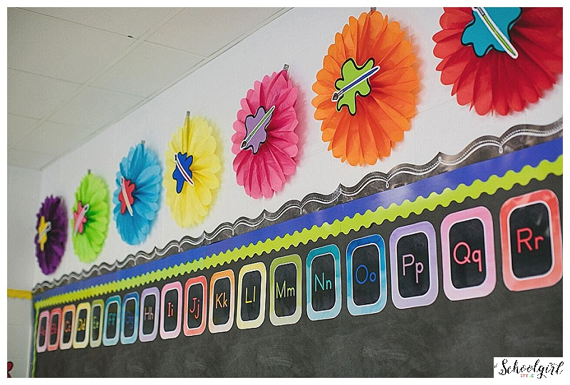 I Loved The Idea Of Paint Brushes Easels Palettes And Doodle Art To Compliment Pretty Watercolor Accents Thought A Classroom Decor