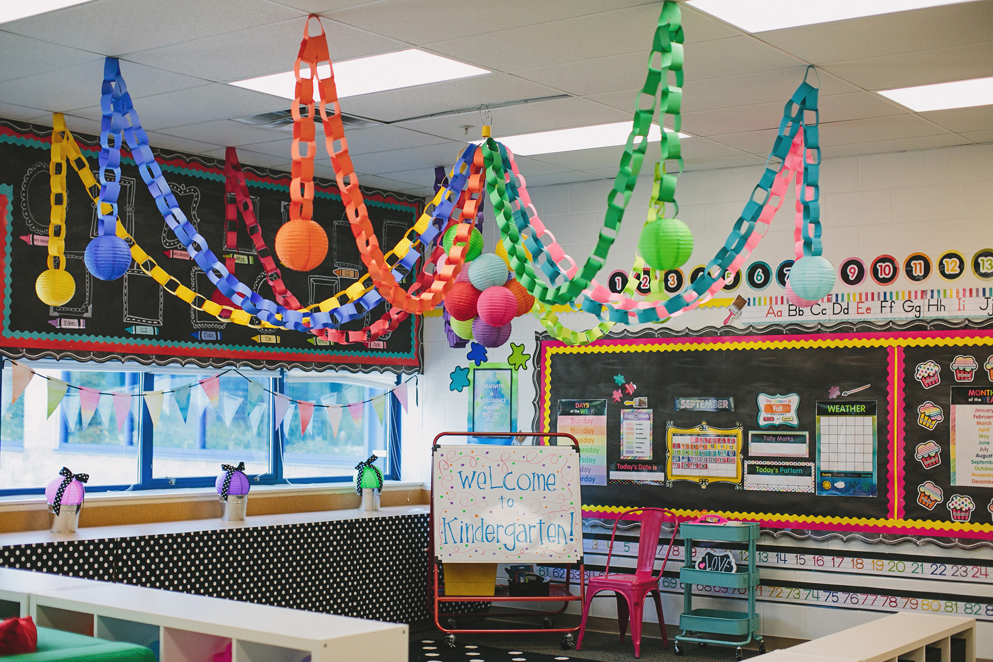 Classroom Decoration Ideas With Paper ~ Melanie s classroom reveal introducing quot color my