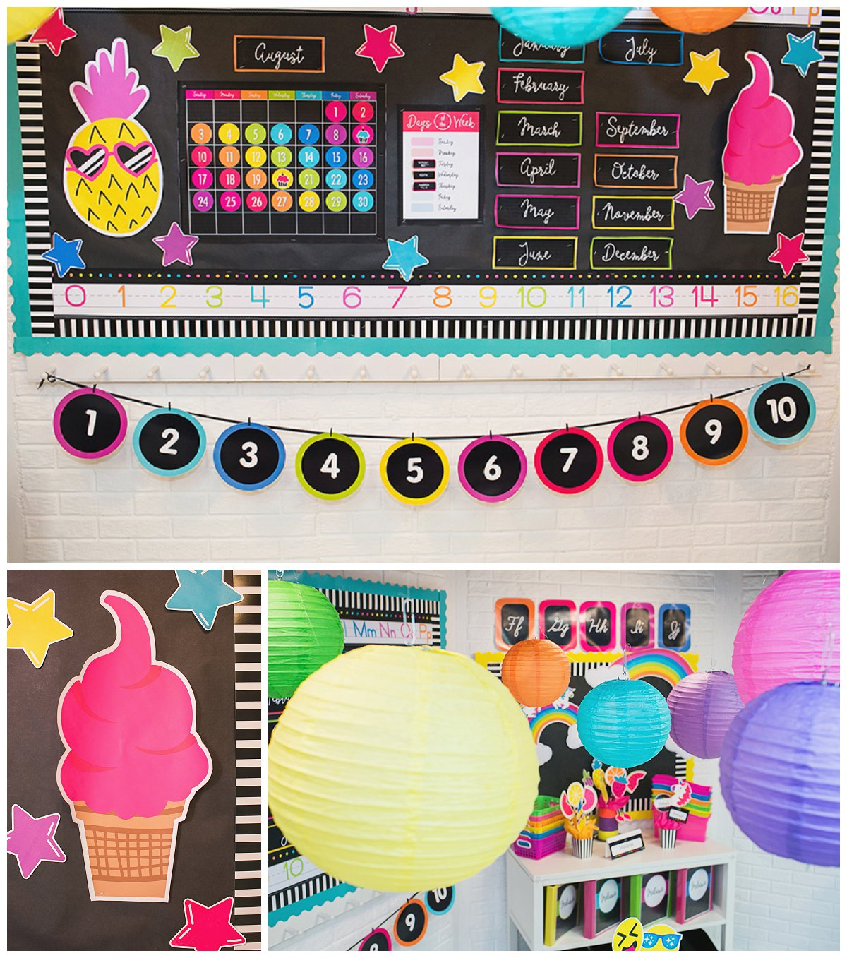 Classroom Decor Collections ~ Neon pop collection schoolgirlstyle