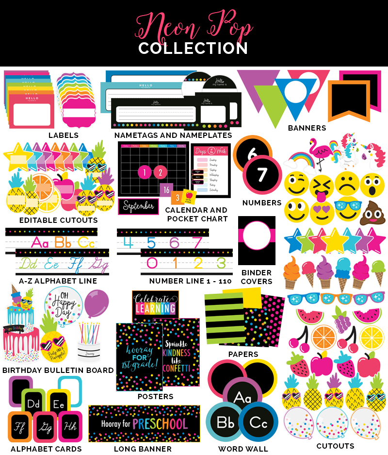 Neon Pop Collection Schoolgirlstyle